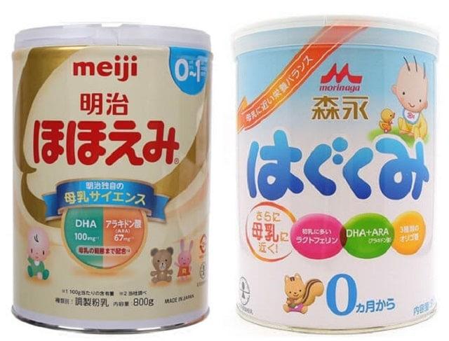 So sánh sữa Meiji và Morinaga trên những tiêu chí nào?