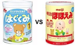 """So sánh sữa Meiji và Morinaga - """"Kẻ tám lạng, người nửa cân"""""""