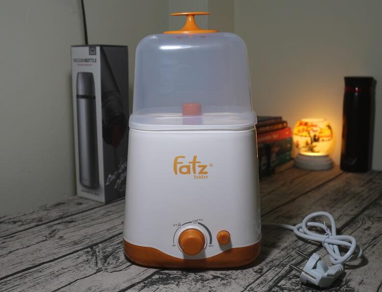Máy hâm sữa Fatz FB3012SL có 2 bình cổ rộng