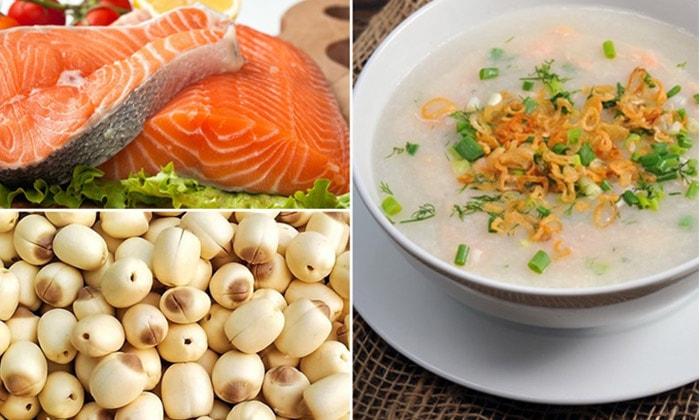 Cháo cá hồi hạt sen có vị bùi và thơm ngon dễ ăn - 1
