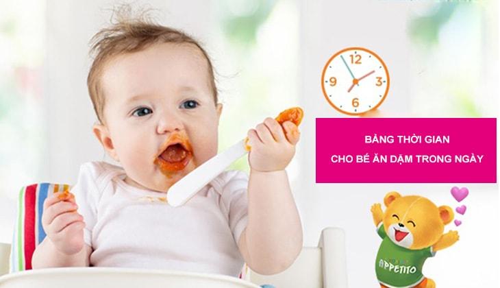 Bảng thời gian cho bé ăn dặm trong ngày khoa học giúp bé phát triển toàn diện - 1